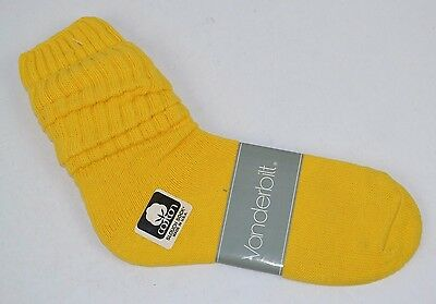 VINTAGE 1980's 1 Pair SLOUCH SOCKS 100% Cotton Baggy Bright Yellow NOS