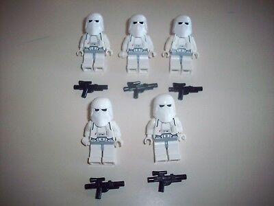 Lego Star Wars Minifigure Trooper Lot B ~ Snowtrooper 4483 With Blasters