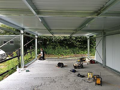 Steel frame building,carports,small Units,mono Slope Building