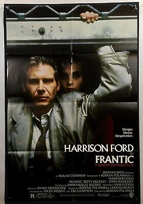 Frantic Movie Poster Fine One Sheet 1988 Harrison Ford 1145