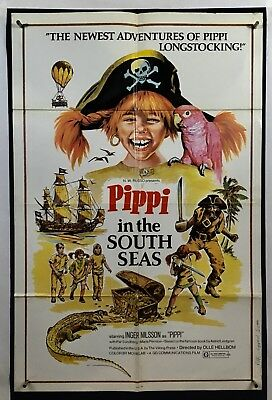 PIPPI IN SOUTH SEAS Movie Poster (Good) One Sheet 1970 Inger Nilsson 1197