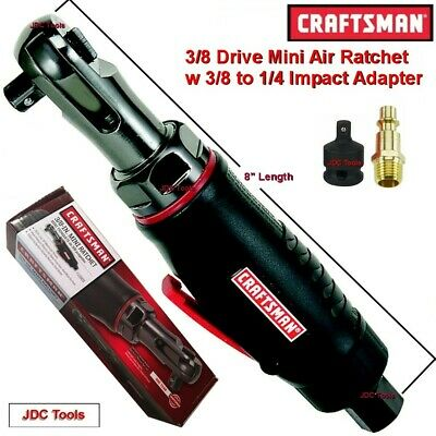 CRAFTSMAN 3/8 DRIVE MINI AIR RATCHET WRENCH  w ADAPTER NEW