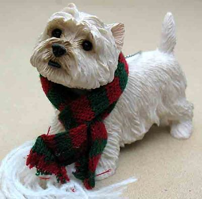Sandicast West Highland Terrier, Standing Ornament  Item Xso22102