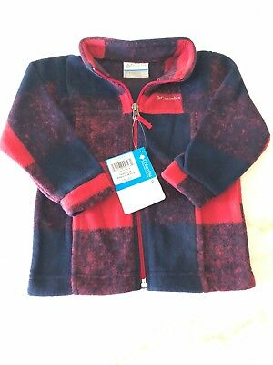 Columbia Zing 3 Fleece Yourh 18-24 Months Plaid Red Black Cute Infant