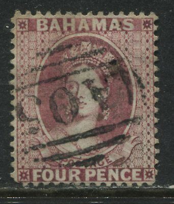 Bahamas QV 1863 4d rose choice used with a numeral A05
