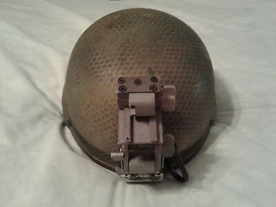 Combat Worn Msa Ach Ballistic Helmet Size Large W/custom Paint And Norotos Mount