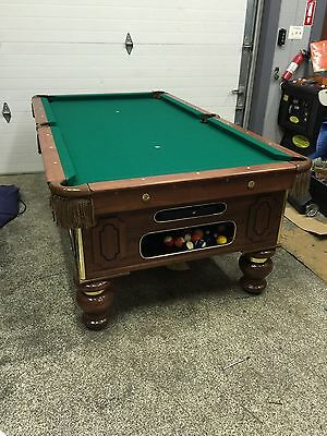 BRUNSWICK POOL TABLE CoinOp X PicClick - 4 x 8 brunswick pool table