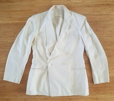 Vtg 1930's 40s Palm Beach Suit Jacket Style 101 Double Breast Shawl Collar 38