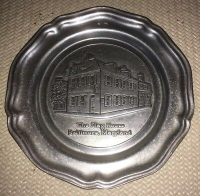 """*REDUCED*...PEWTER PLATE 7"""" ...THE FLAG HOUSE...Baltimore, Maryland"""