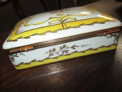 Antique FINE FRENCH LIMOGES signed oil painting porcelain box 24k gold OPERA air