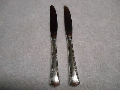 "Pair of Gorham Greenbrier Sterling Handled 8 7/8"" Modern Hollow Knives NO MONO"