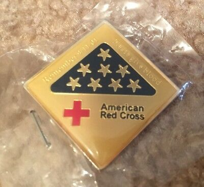 American Red Cross Remember 9-11 September 11, 2001 Give Blood Pin Pinback