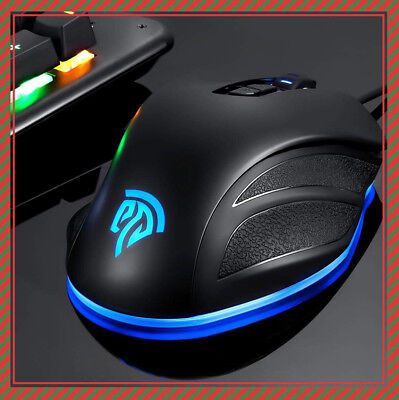 Wired RGB Gaming Mouse 10000 DPI Multi-Color Ergonomic 8 Buttons for Laptop PC