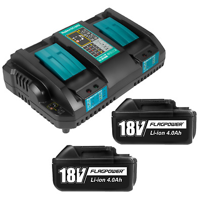 18V Li-ion Battery & Charger Set for Makita BL1850 DC18RD BL1860 DC18RC BL1840