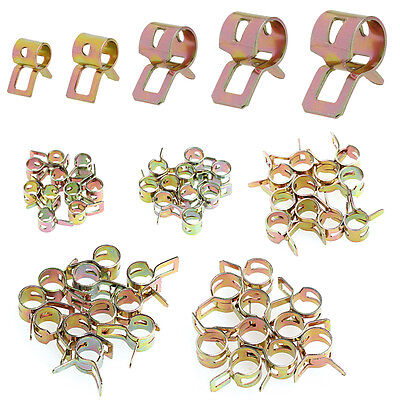 50Pcs Spring Clip Fuel Water Line Hose Pipe Air Tube Clamps Fastener 5/6/7/8/9mm