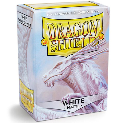 Dragon Shield Standard 100ct White MATTE 63x88mm Sleeves