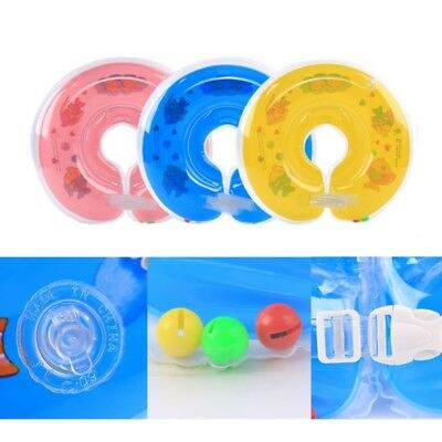 AU Newborn Baby Swim Ring Inflatable Toddler Safety Aids Adjustable Neck Float
