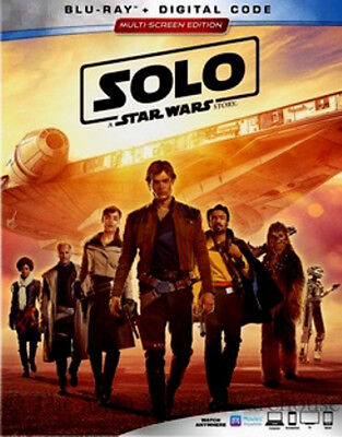Authentic Han Solo A Star Wars Story Sci-Fi Movie Blu-ray and Digital Copy Code