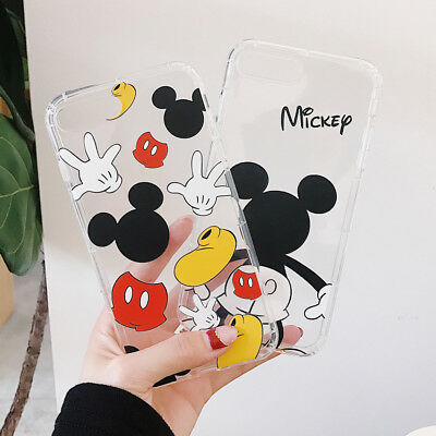 Cute Minnie Mickey Mouse Cover Case Cartoon For iPhone XR X XS MAX 8 7 6 Plus