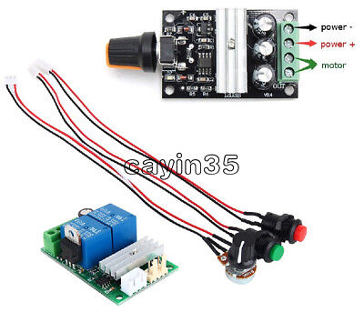 3A 6V-24V DC Motor Speed Control Controller PWM Regulator Reversible Switch UK