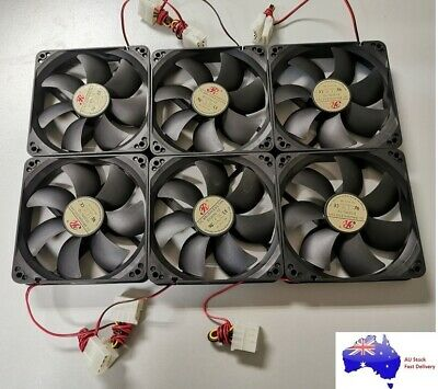 6PCS New 12cm 120mm DC Brushless PC Computer Case Cooling Fan 12V Cool Air