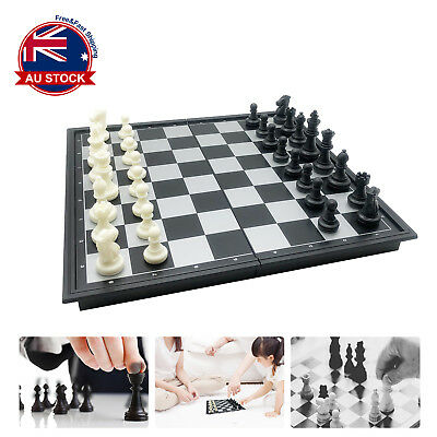 25 x 25cm Foldable Magnetic Chess Box Set Educational Board Contemporary Games +
