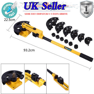 10-25mm Heavy Duty Manual Steel Pipe Tube Bender Metal Pipe Bending Tools 7 Dies