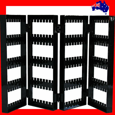 Reliable ACRYLIC Earring Display Stand Organiser-Black | 4 Fold | AUSSIE Seller