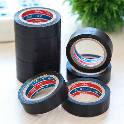 Black Heat Resistant Electrical Wire Insulating PVC Tape 6M Length 1Pc Safe Tape