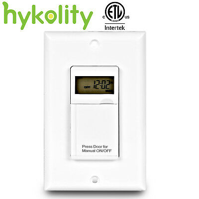 Hykolity 7 Days Digital In-Wall Programmable Electrical Timer Switch ON/OFF Lamp