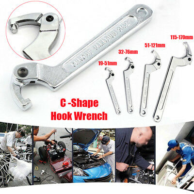 C Spanner Tool Adjustable Hook Wrench Multi-Sizes Motorcycle Suspension Adjust