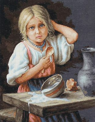 LUCA-S B515 Peasant Girl Embroidery Kit counted cross stitch 34 x 44 cm