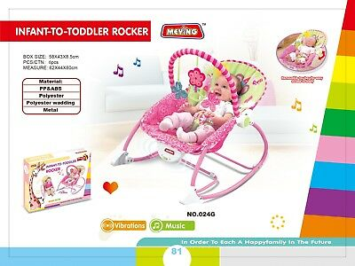Newborn Girl Rocker Soothing Music Bouncer Infant-to-Toddler Multifunction Chair