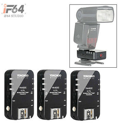 3pcs Yongnuo YN-622C Wireless TTL Flash Trigger For Canon 7D 5DII 5DIII 1DIV