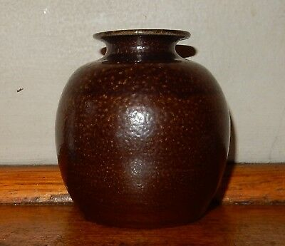BENDIGO POTTERY Salt Glazed POSY or BUD VASE Potters Mark W A=William Akkermans