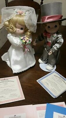 Ashton Drake Galleries Precious Moments Bride and Groom dolls