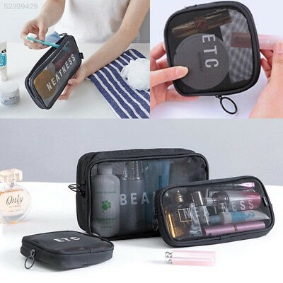 9371 Travel Mesh Storage Bag Pouch Toiletry Makeup Cosmetic Organizer Holder