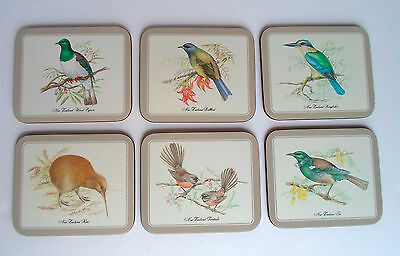 Jason Birds Of New Zealand Set 6 Cork Backed Coasters In Box