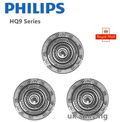3x Quality Philips Norelco HQ9 Shaver Heads Razor Head Blades Cutters UK Stock