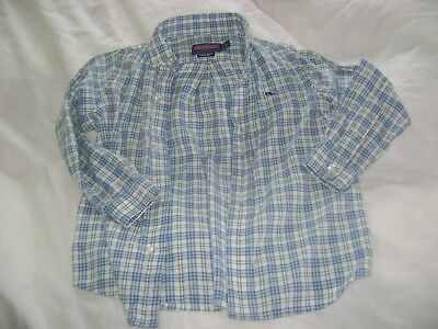 Vineyard Vines Boy's 2T All Cotton Flannel Whale Button Down Shirt; Exc. Cond.!!