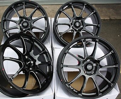 "17"" Black P Calibre Friction Alloy Wheels Fits Subaru Impreza Wrx Awd 5X100"