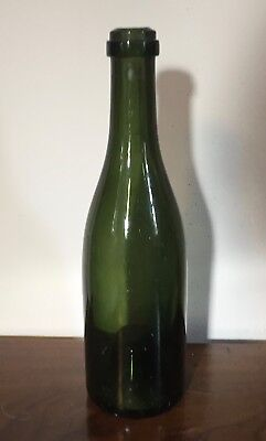 Antique 18th 19th century Green Glass Wine Bottle