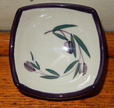 BENDIGO POTTERY Small CONDIMENTS DISH or BOWL  Floral Design