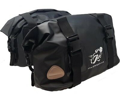 Motorbike Soft Luggage Panniers 20L Roll Top Adventure, Sports, or Street Bike