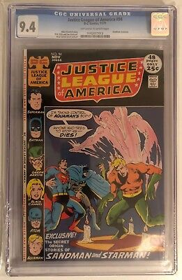 Justice League Of America #94 - Cgc 9.4 - Off White/white Pages - Deadman