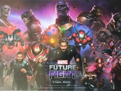 Comic Con MARVEL FUTURE FIGHT AVENGERS POSTER THANOS SDCC 2018 11 X 17