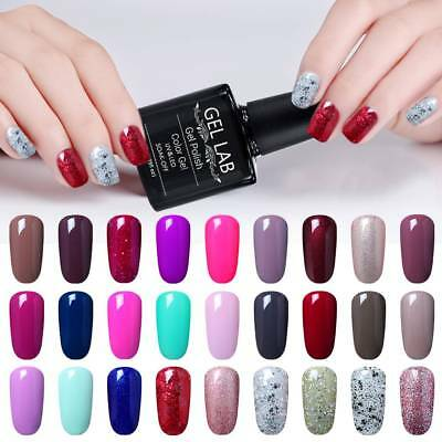 GEL LAB 10ML Soak Off Gel Polish Base Top Coat Manicure Varnish Lacquer