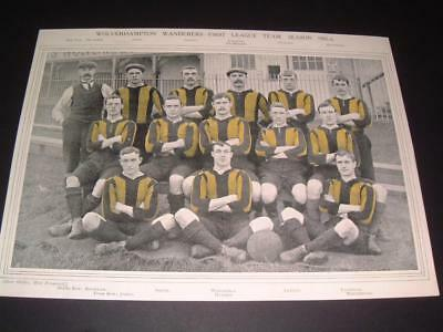Wolverhampton Wanderers Fc Wolves Fc Very Rare 1905-06 Original Team Picture