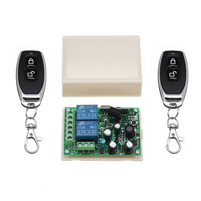 220V 2CH RF Wireless Remote Control Switch Relay Receiver Module smitter