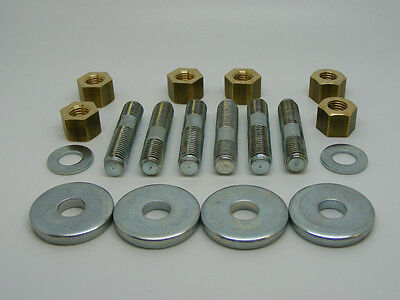 Classic Mini Manifold Fitting Kit Including Studs, Brass Nuts & Washers